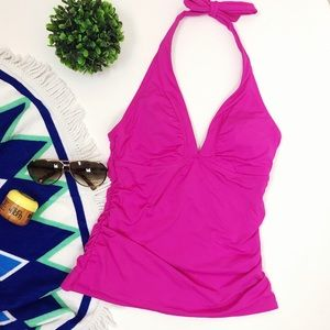 Athleta tankini swim top shirrendepity halter